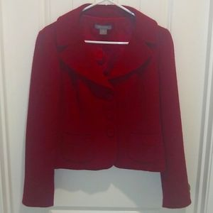 Ann Taylor red suit jacket